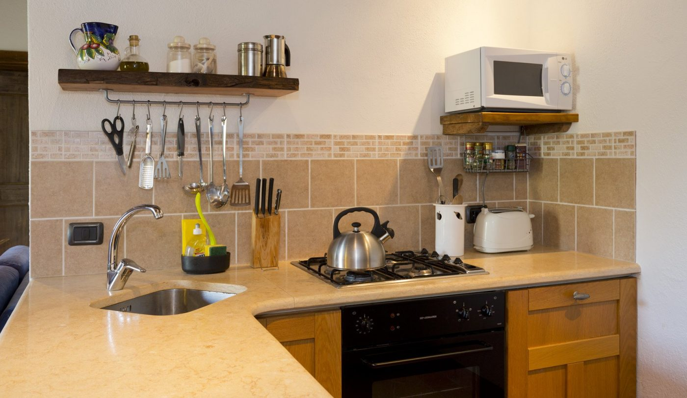 Kitchen with all modern equipment