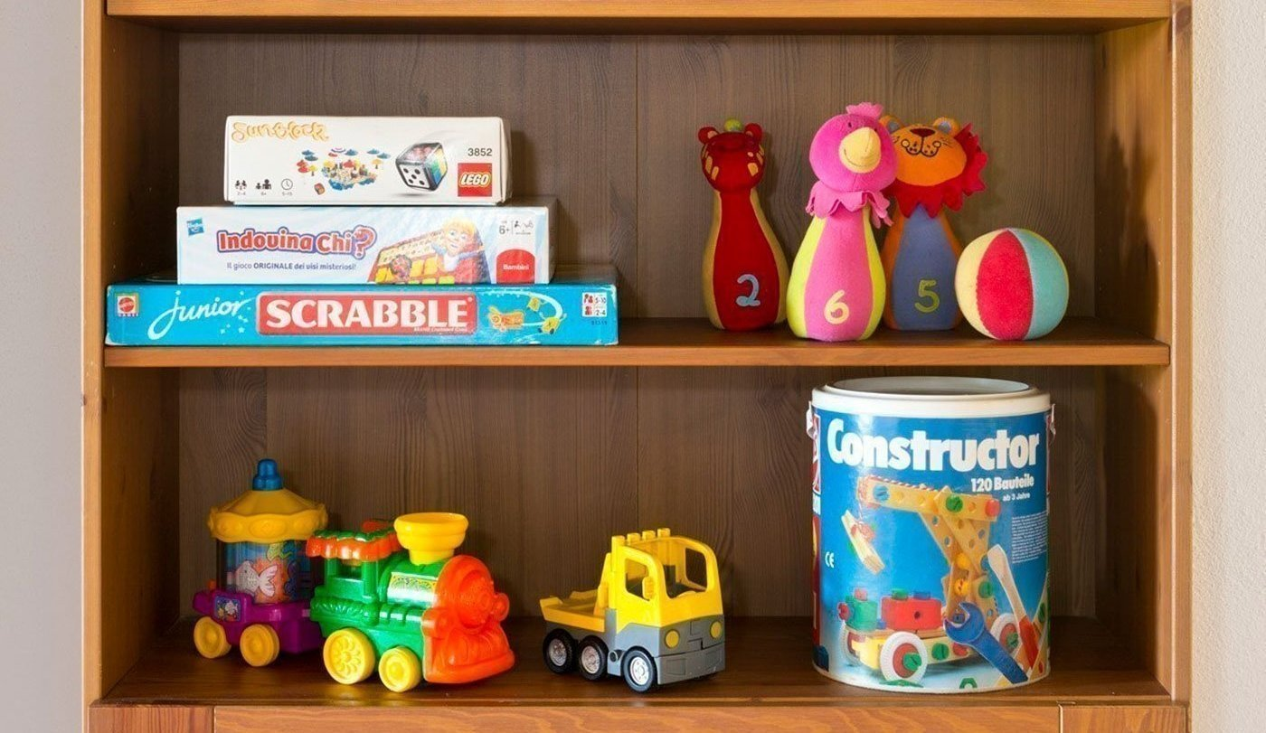 Books, toys, games for the children