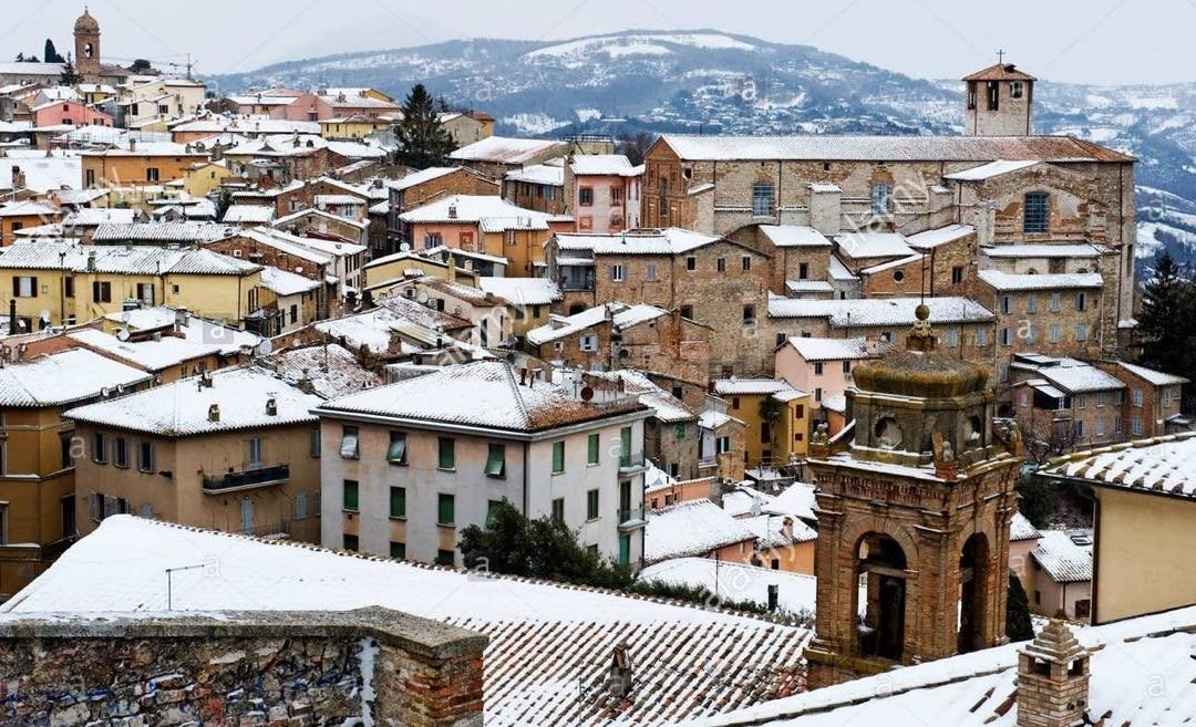Snow in Perugia in March.