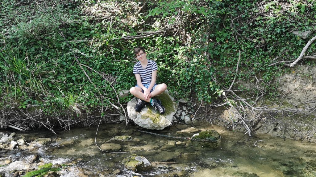 A Pixie by the stream